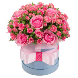 Цветы в коробке «Барби»